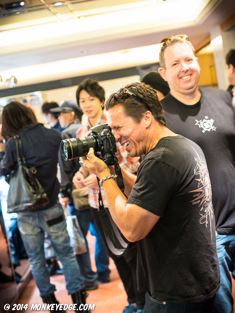 Kimo Photographing during Starlingear Japan Trunk Show 2014