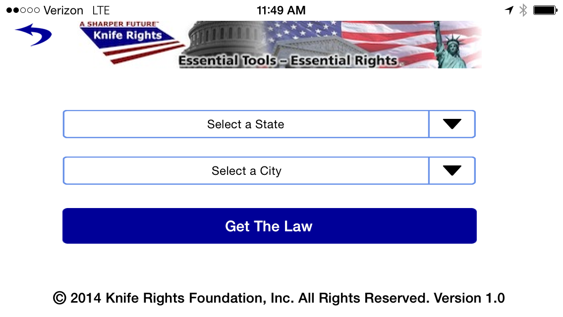 Knife Rights LegalBlade State Drop Down